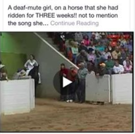 Deaf Mute Girl riding horse