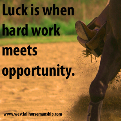 Luck is when hard work meets opportunity.   Official Site of Stacy