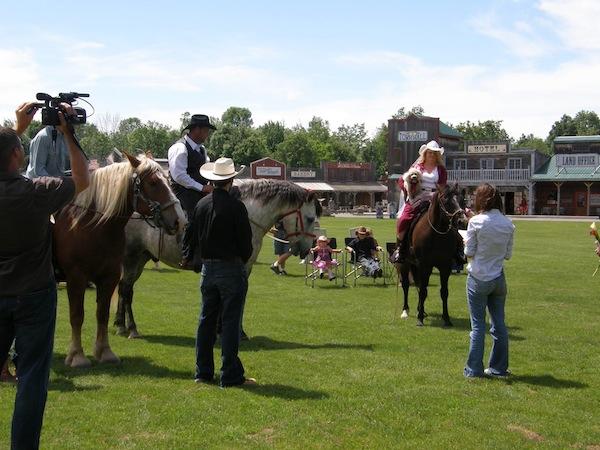 Wedding on horseback
