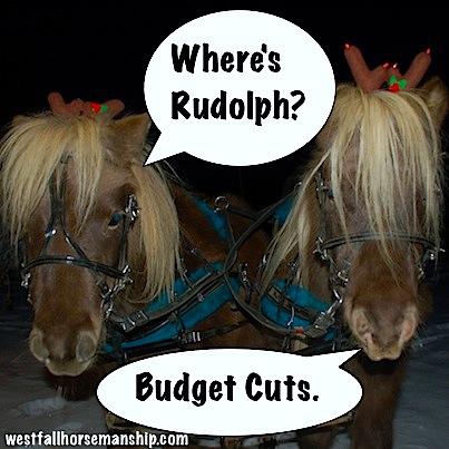 Where's Rudolph? Budget cuts.