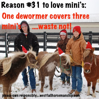 Mini's and dewormer