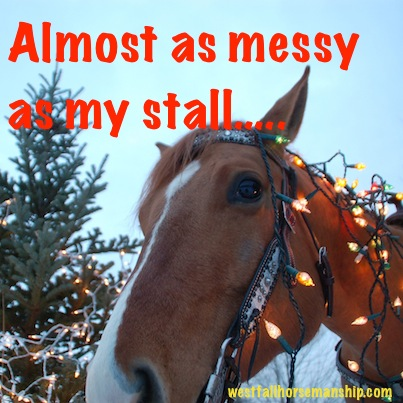"Newt, ""Almost as messy as my stall...."""