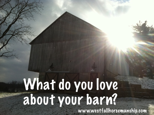 what do you love about your barn