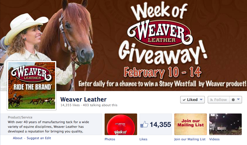 Week of Weaver Give Away