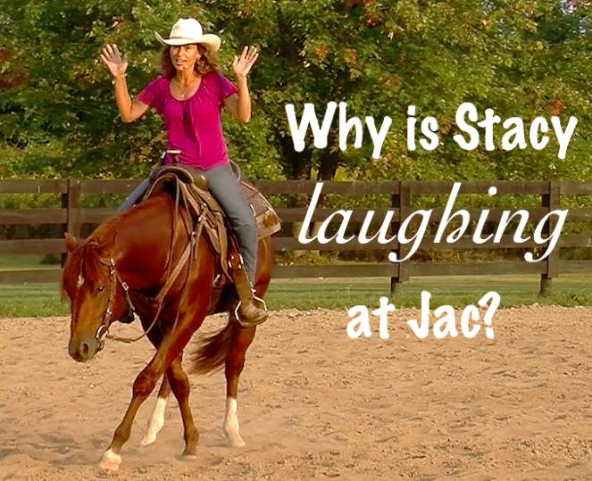 Watch Episode 26 of Jac to see why Stacy is laughing.