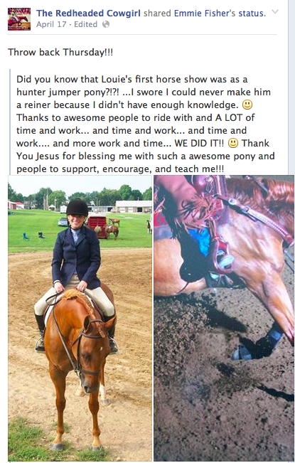 The Redheaded Cowgirl on Facebook: Louie in the beginning