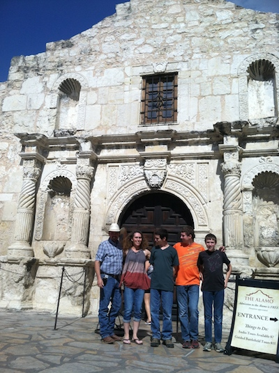 Westfall family visits Alamo
