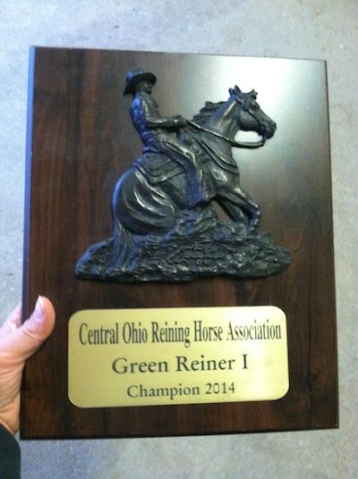 Joshua won his first plaque!