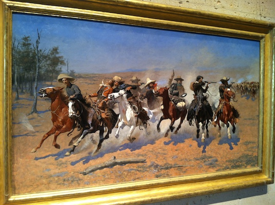Frederic Remington, A Dash for the Timber, 1889