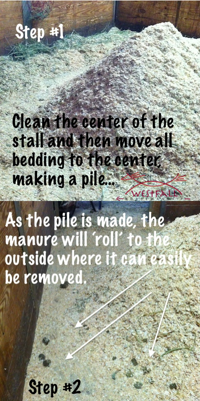 stall cleaning techniques vary by bedding material used