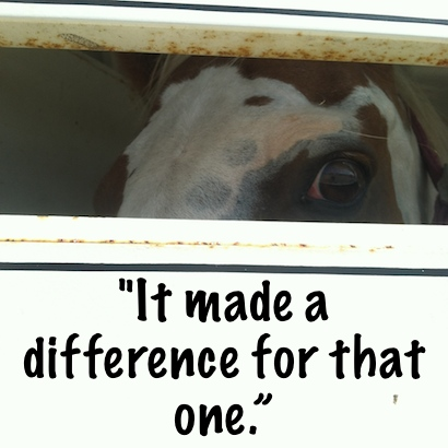 """It made a difference for that one."""""""