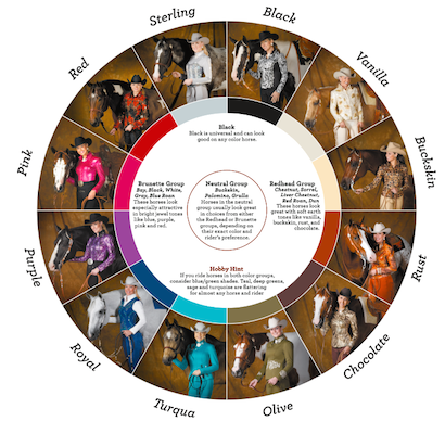 Hobby horse color wheel, what to wear with your horse