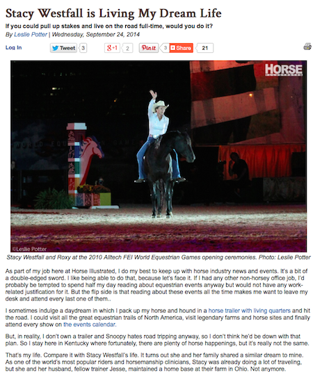 Full article found at HorseChannel.com