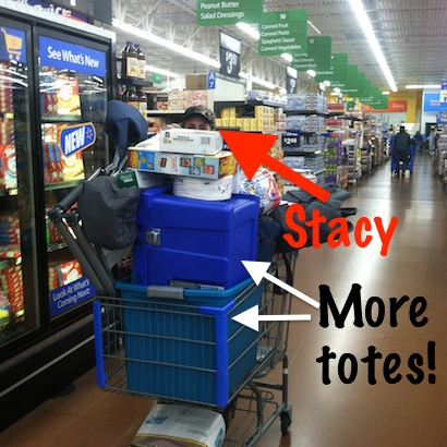 Stacy Westfall shopping at Walmart