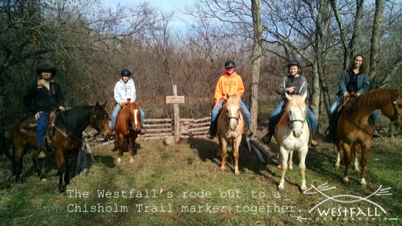 The Westfall's visiting Lew & Melody Sterrett at Ransom Wind Ranch, Verden, Oklahoma