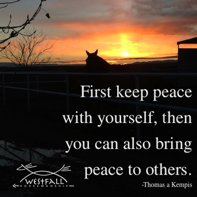 First keep peace with yourself, then you can also bring peace to others.