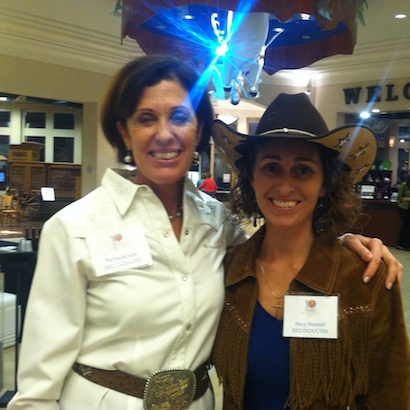Barbra Schulte & Stacy Westfall, both inducted into Cowgirl Hall of Fame, 2012