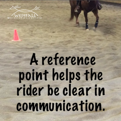 A reference point helps the rider be clear in communication.