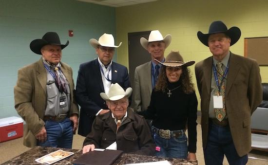 Back row L-R: Cody Lambert, Dr. Jim Heird, Sam Rose, Mike Kevil. Front row: Jack Brainard & Stacy Westfall