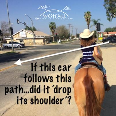 horse drop shoulder dropping fix