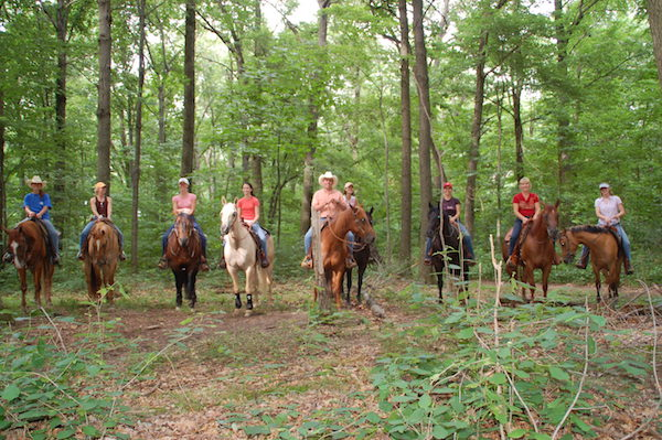 Last day of clinic trail ride at Mohican