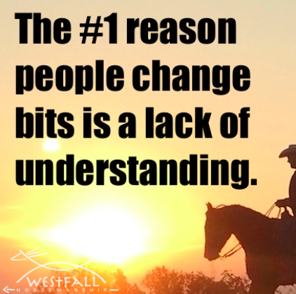 The #1 reason people change bits is a lack of understanding.