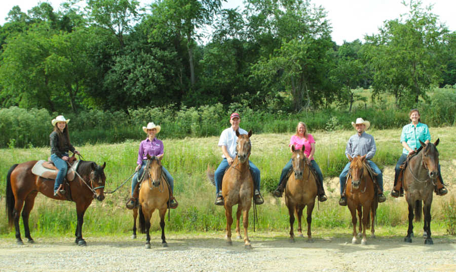 Group clinic Westfall Horsemanship