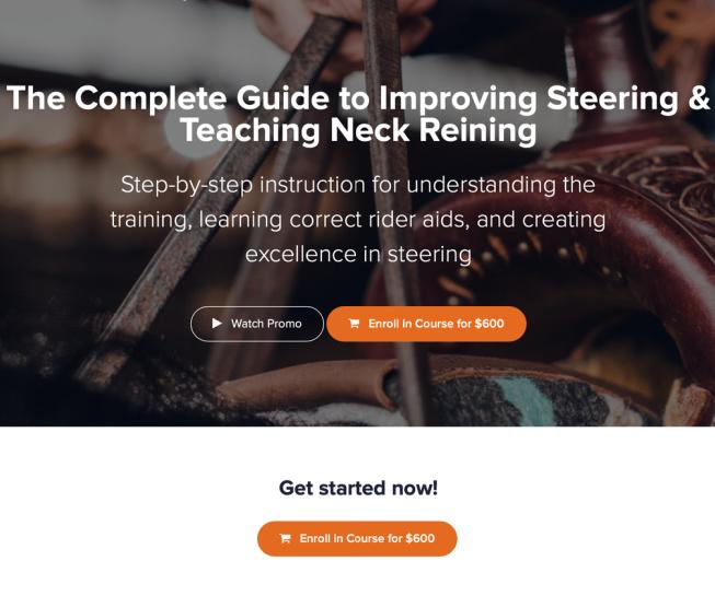 Steering & Neck Reining