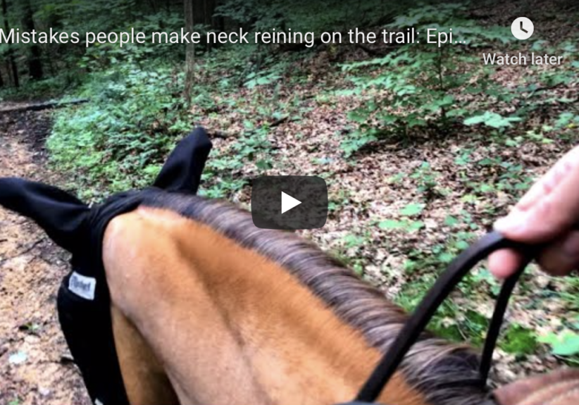 Neck reining on the trail