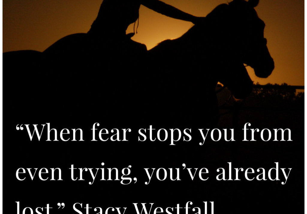 When fear stops you from even trying, you've already lost.
