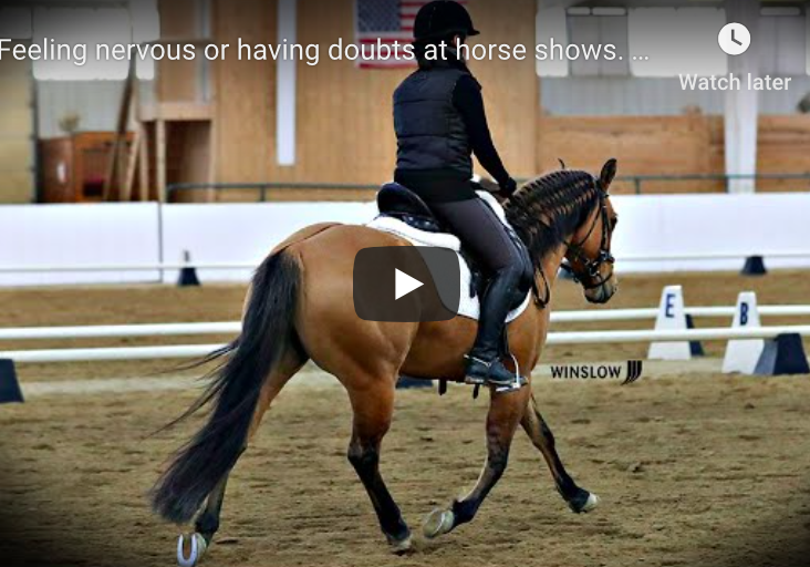 feeling nervous at horse shows